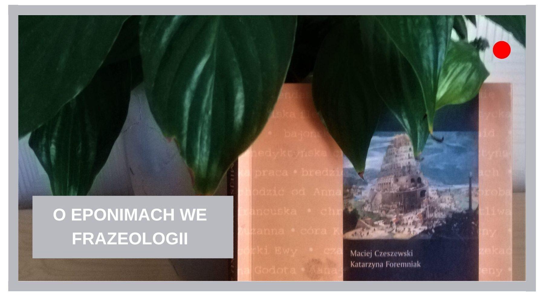 Blog Agnieszka Jasińska - O eponimach we frazeologii