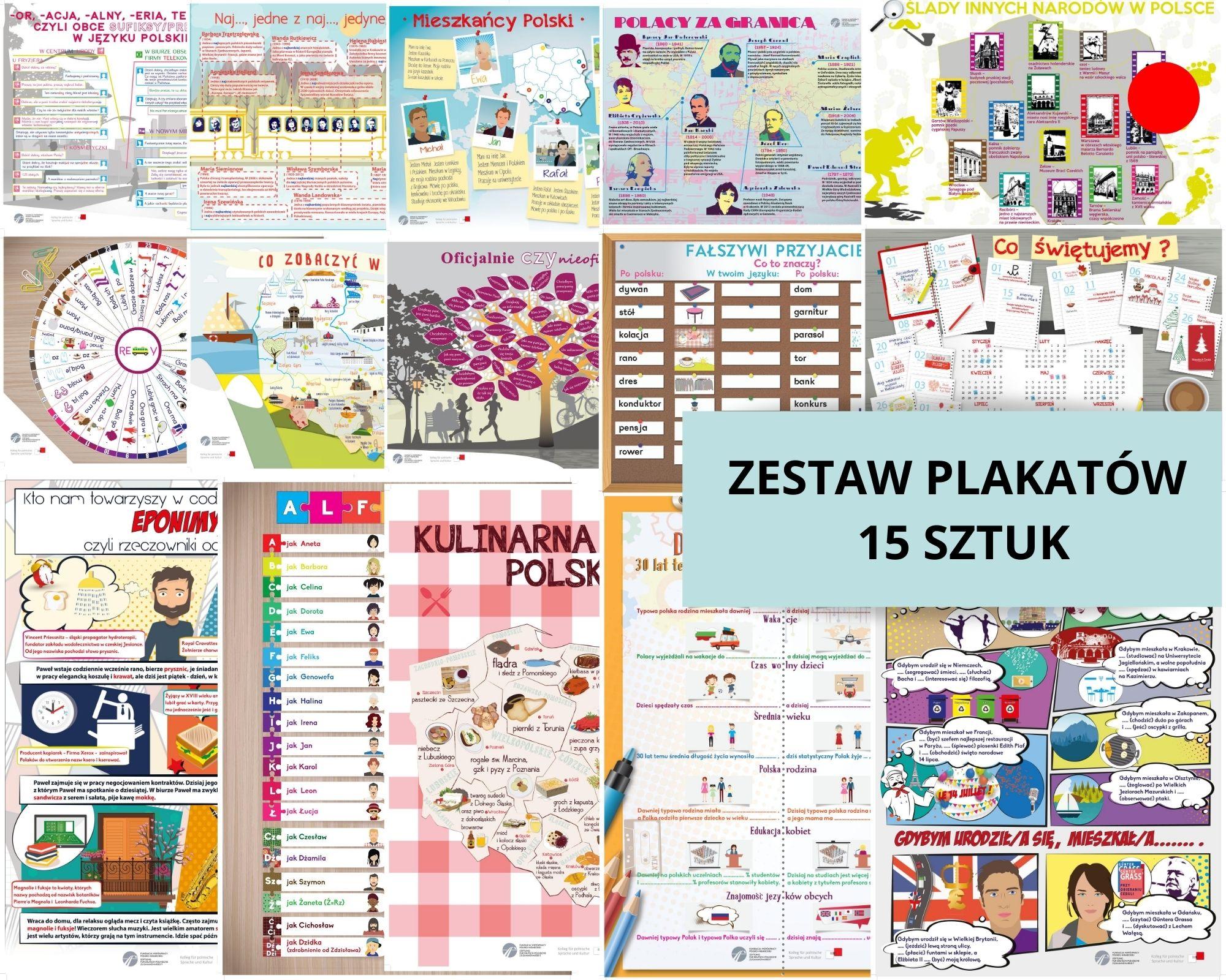 Agnieszka Jasińska - zestaw 15 plakatów