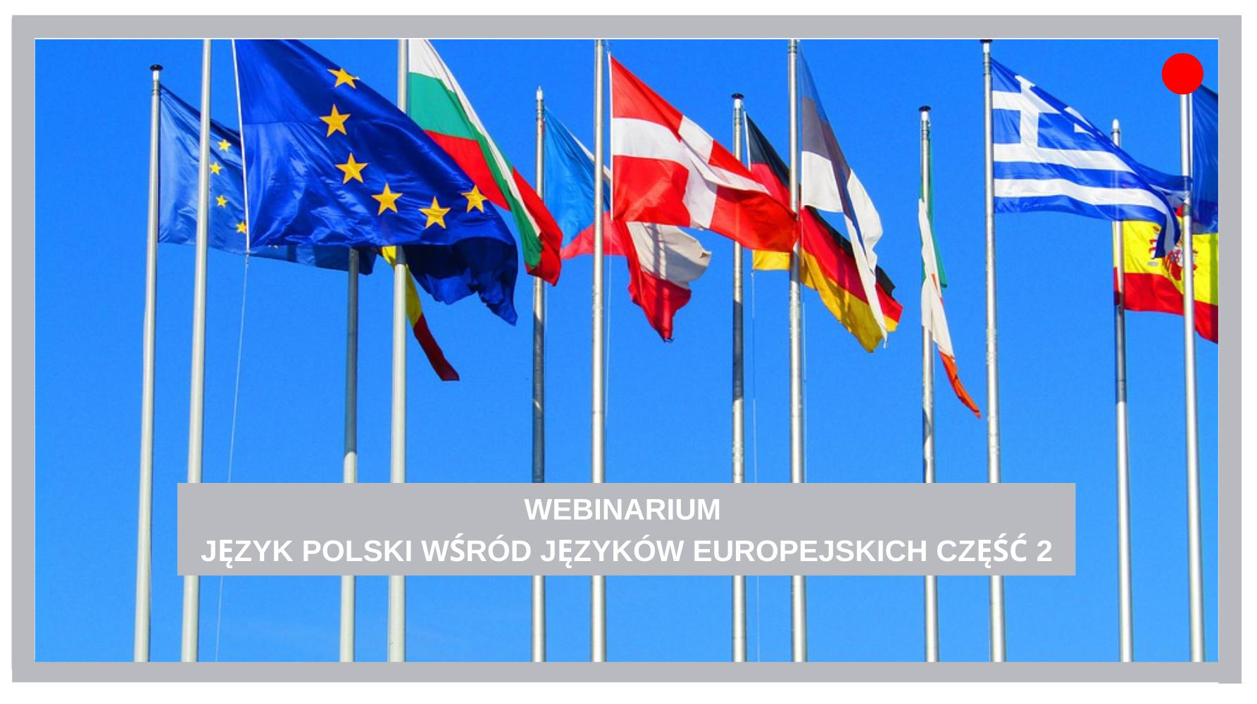 JĘZYK POLSKI WŚRÓD JĘZYKÓW EUROPEJSKICH 2